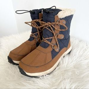 Bear Paw waterproof leather boots lace up winter